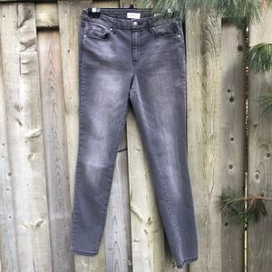 Jessica Simpson High Rise Skinny Grey Jeans